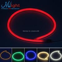 FREE SHIPPING 1m Mlight Flexible Side Emitting Neon Tube Yellow LED Strip Light High Brightness110 220
