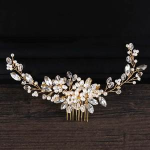 GETNOIVAS Headpiece Bridal Headband Tiaras Hair-Accessories Jewelry Rhinestone Crystal