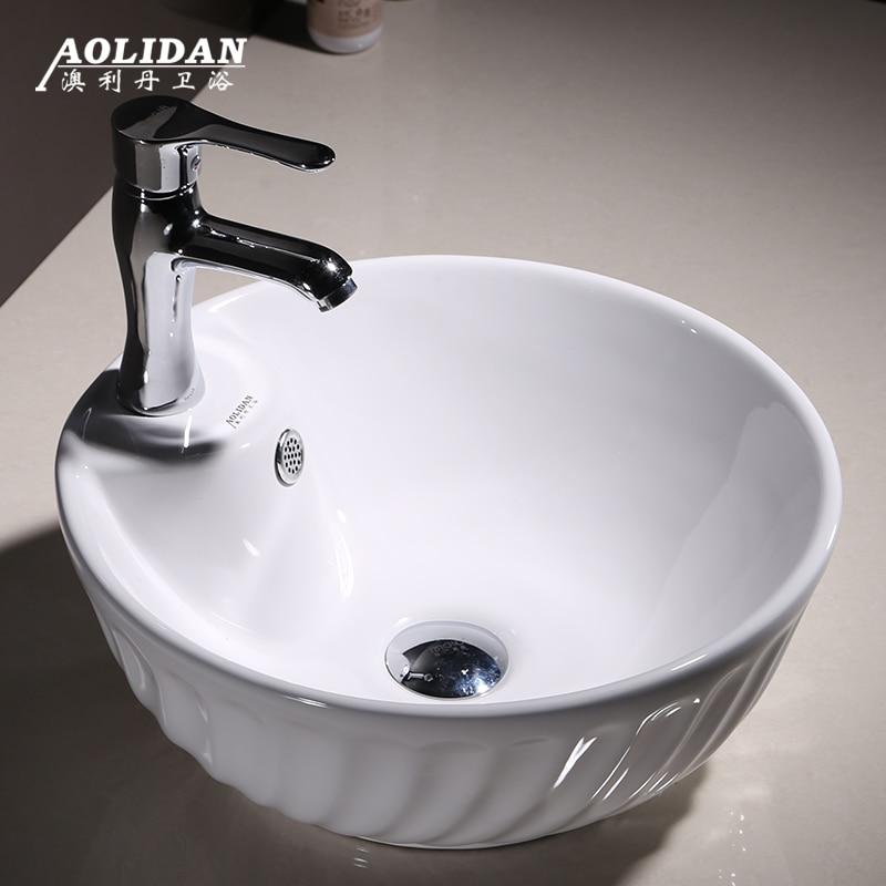 2017 Badkamer Sink Direct Selling Hot Koop Cortina Ducha Douchegordijn Taiwan Wastafel Kom Wastafel Keramische Wassen Badkamer Art