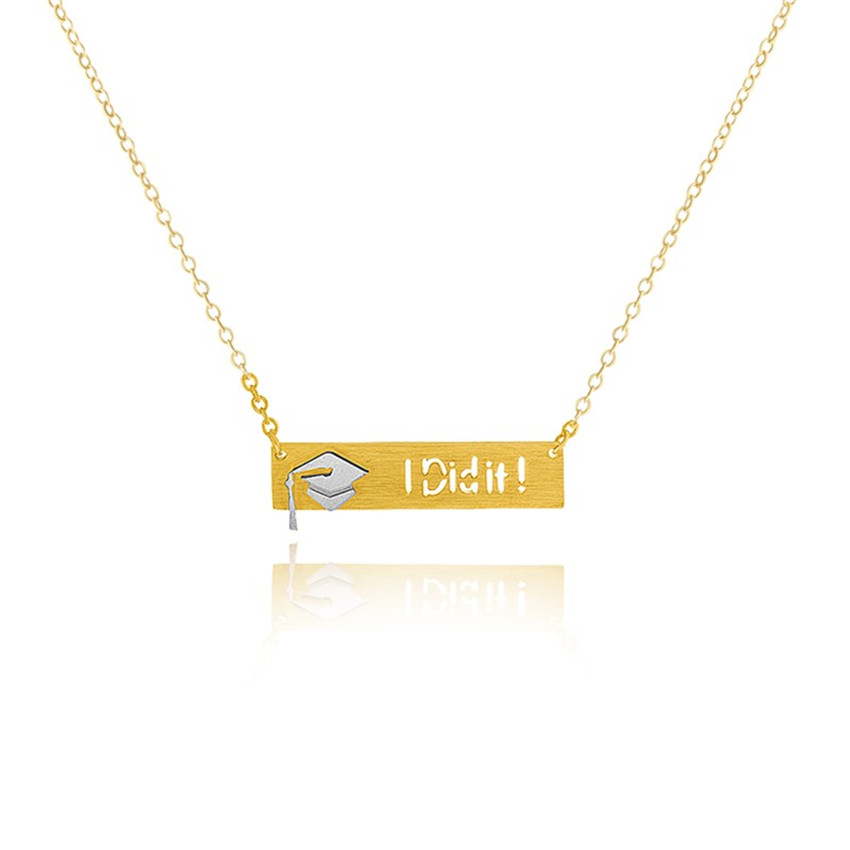 "HTB14o7zPXXXXXcRXXXXq6xXFXXXe - Graduation ""I Did It"" Pendant with Slim Chain"