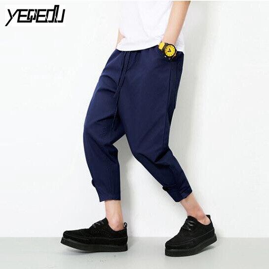 Alan women clothes #2831 Jogger pants men Fashion Harajuku Harem Mens baggy cargo pants Loose Pantalon large Hip hop men Streetwear Lightweight 5XL