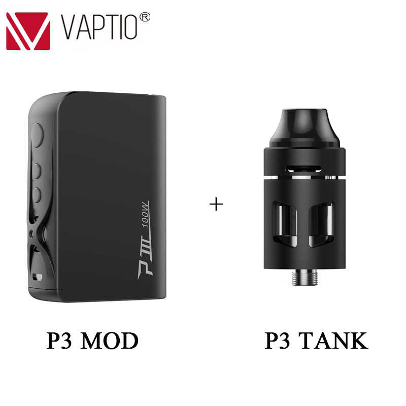 Vape Mod Vaptio P3 Mod Built-in 3000mAh Super High Capacity Battery With 30~100W Output Power Electronic Cigarette Vaporizer Kit