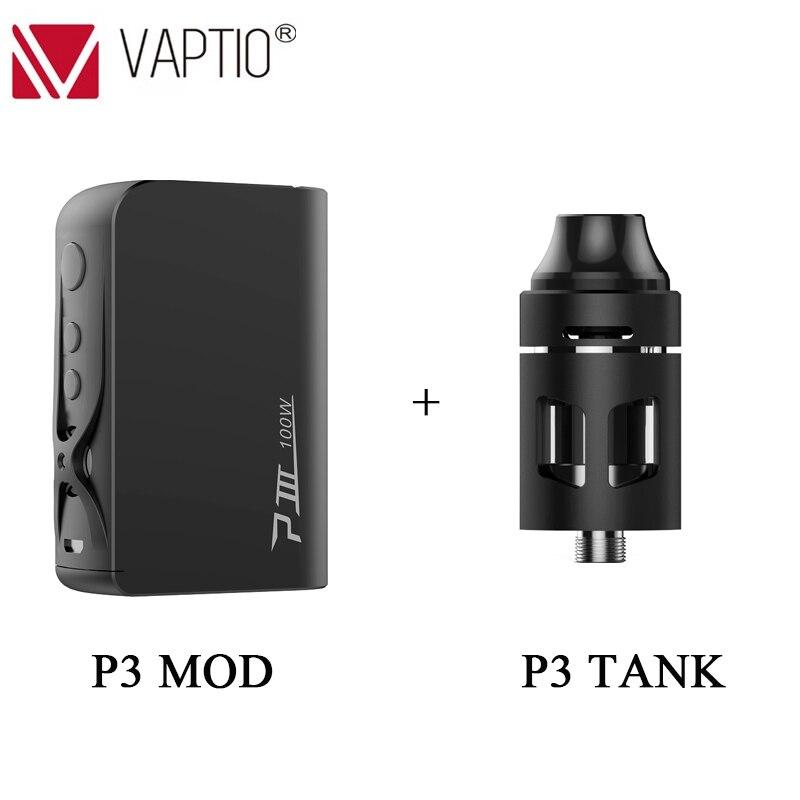 Vape mod Vaptio P3 Mod intégré 3000mAh super haute capacité batterie avec 30 ~ 100W sortie puissance cigarette électronique kit