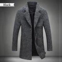 New Arrival Long Woollen overcoat For Men Winter Fashion Trench Coat Thicken Male Jacket Coat Plus Size