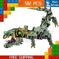 592 pcs Nouveau Vert Ninja Mech Dragon Gooden East 10718 Modèle Blocs de Construction Enfants Assembler des Jouets Briques Compatible Avec lego