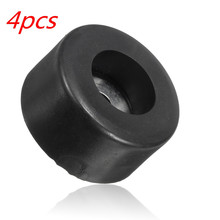 LEORY Durable Black 38mm x 19mm Large Case Speaker Cabinets Rubber Feet Damper Pad Base 4pcs