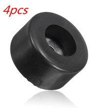 LEORY Durable noir 38mm x 19mm grand boîtier haut parleur armoires en caoutchouc pieds amortisseur Pad Base 4 pièces