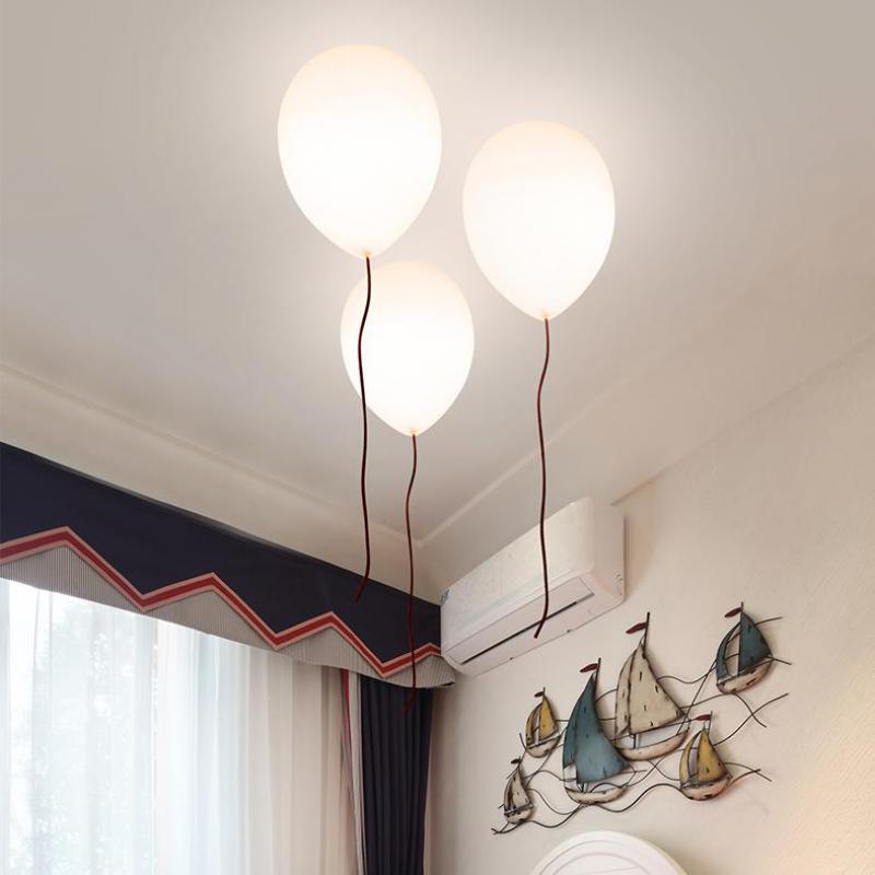 Regron минимализм потолок освещение творческий разноцветных шаров Стекло абажур Светодиодная лампа потолка для Детская комната Спальня