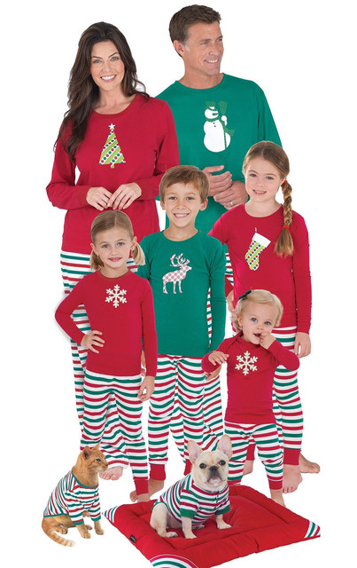 Family Matching Outfits Adult Children Christmas Nightwear Pajamas Sets Men  Women Baby Cotton Soft Print Sleepwear - Family Matching Outfits Adult Children Christmas Nightwear Pajamas