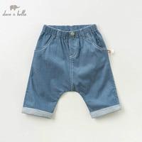 DBW10413 2 N dave bella summer baby boy pants children blue pants infant toddler trousers