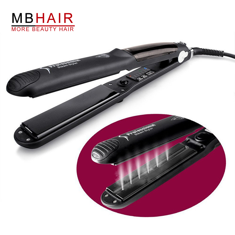 Professional Hair Straightener with Argan Oil Infusion Straightening Irons Steam Function Flat Iron Tourmaline Ceramic Vapor
