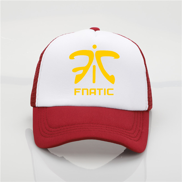 941e5e23d09 Fashion hat Fnatic LOL Champion Printing net cap baseball cap Men women  Summer Trend Cap New Youth Joker sun hat Beach Visor hat