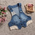 New Hot Summer Women Cowboy Vest Coats Fashion Tank top Lace Maga Waistcoat Sleeveless denim Coat Jacket chalecos mujer 6019