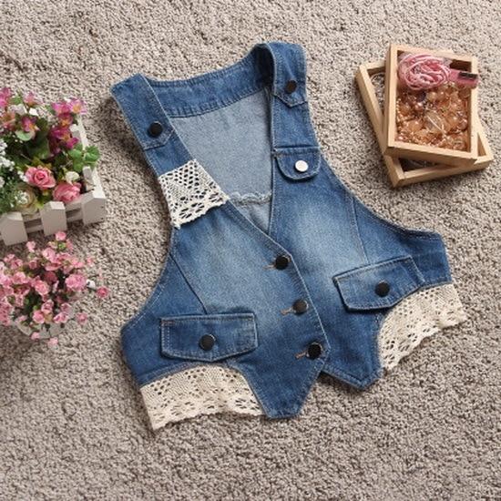 New Hot Summer Women Cowboy Vest Coats Fashion Tank top Lace Maga Waistcoat Sleeveless denim Coat Jacket chalecos mujer 6019