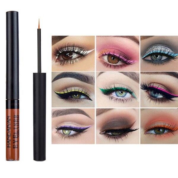 Handaiyan Matte Eyeliner Eyes Makeup Delineador Waterproof Liner Pour Yeux White Blue Eye Liner Liquid For Party Mat Eyeshadow45 Beauty Essentials Beauty & Health