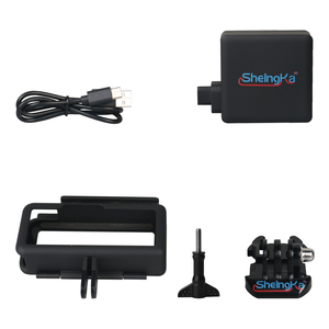 Image 5 - צד נייד חיצוני אספקת חשמל עם הגנת מסגרת שיכון לgopro Hero5/6/7 שחור סוג  C מצלמה אבזרים