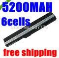 5200MAH Laptop Battery FOR ASUS 70-NXM1B2200Z A31-K52 A32-K52 A41-K52 A42-K52 A52 A52F A52J K42 K42F K52 K52Jr K52JK K52JE
