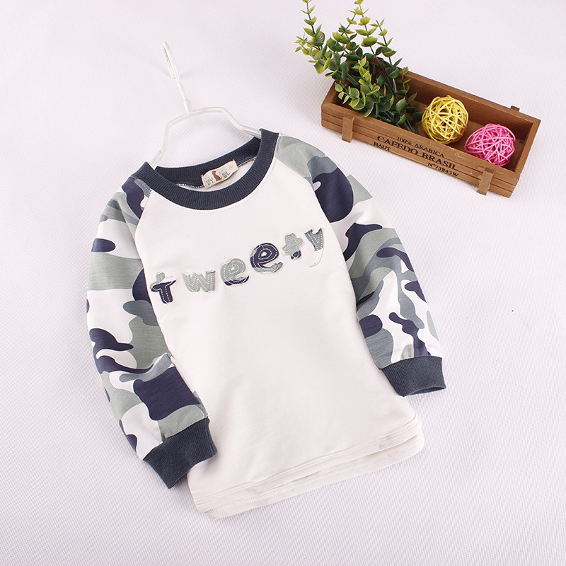 2017 Boys Pullovers Camouflage Sweaters Children Clothes High Quality Autumn/winter Warm Cartoon Kids Outerwear Tops