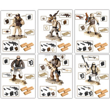 hot LegoINGlys military WW2 Desert Storm war Building Blocks mini army figures Rocket launcher weapon MOC model bricks toys gift