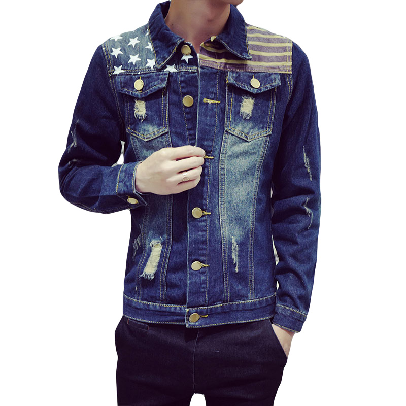 Online Get Cheap Patchwork Jacket Style Casual Denim Jacket Men ...