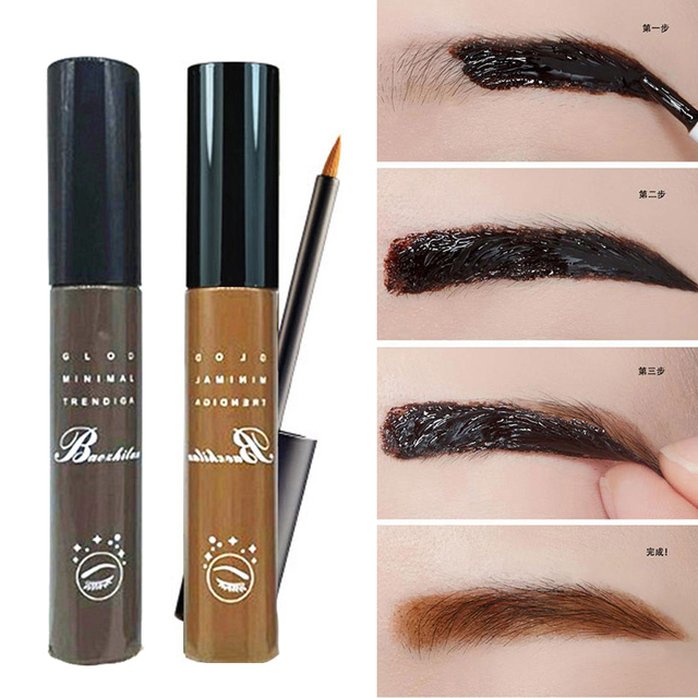 Waterproof Makeup Liquid Eyebrow Gel Peel Off Eye Brow Tint Tattoo Cosmetics Long Lasting Black Brown Eyebrow Paint Make Up
