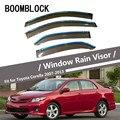 BOOMBLOCK Автомобильная крышка окна козырек от солнца дождя ветра дефлектор тент щит ABS для Toyota Corolla 2007 2008 2009 2010 2011 2012 2013