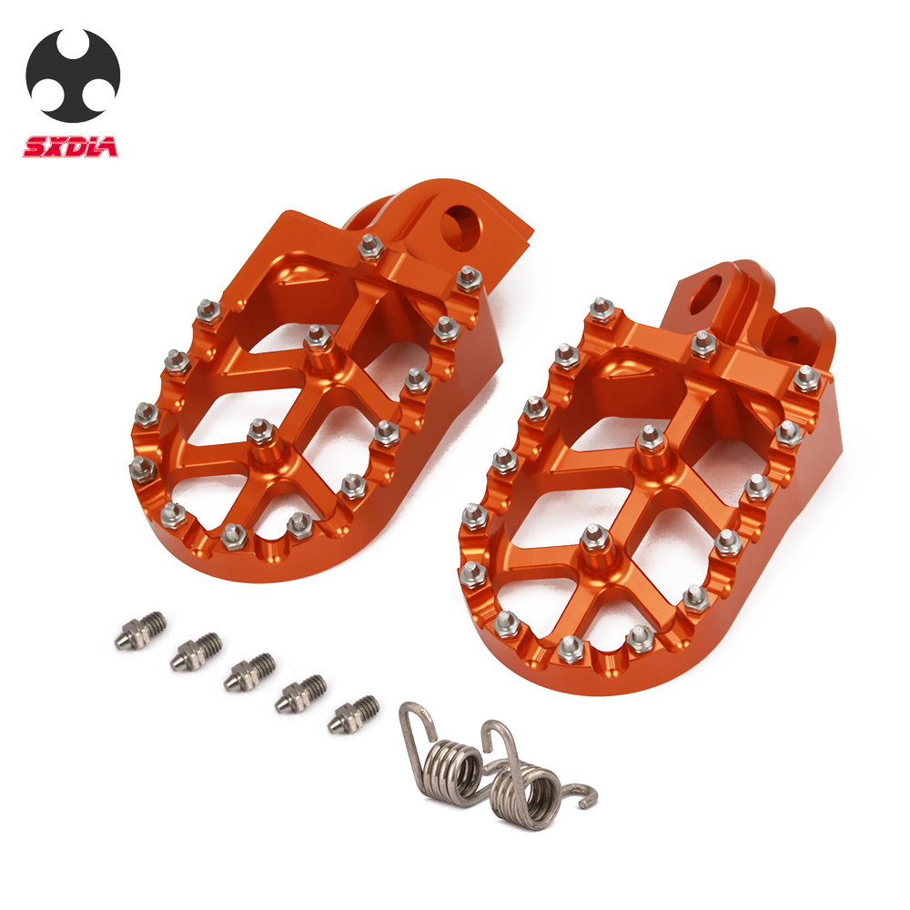 Motorcycle Foot Pegs Footrests Footpegs Foot Rests For KTM SX SXF EXC EXCF XCF XCW XCFW SMC TC TE 65 125 250 350 400 450 530