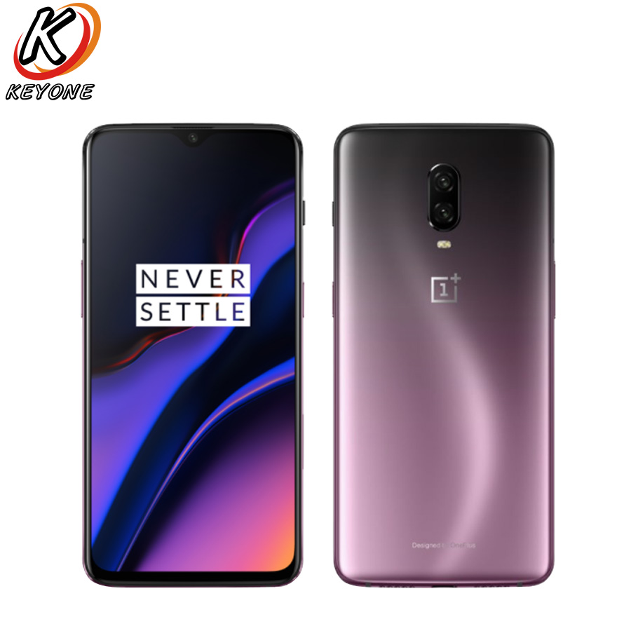"""New Oneplus 6T 4G LTE Mobile Phone 6.41"""" 6GB RAM 128GB ROM Snapdragon 845 Octa Core Dual Rear Camera Android 9.0 NFC Smart phone"""