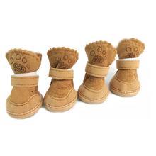 Christmas Dog Shoes Plush Non-slip Cute Boots Snow Walking Puppy Winter Sneakers Shape Pet Warm