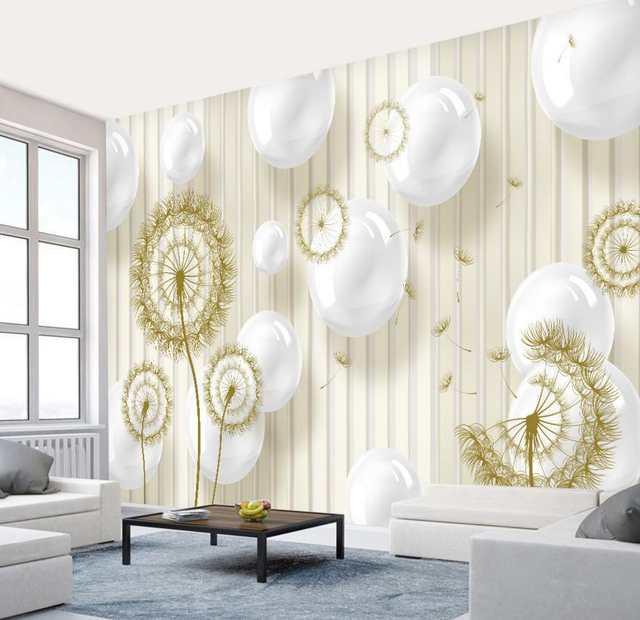 Moderna creative art wallpaper palla tarassaco 3d carta da parati per  camera da letto tv sfondo 3d wallpaper mural pittura murale