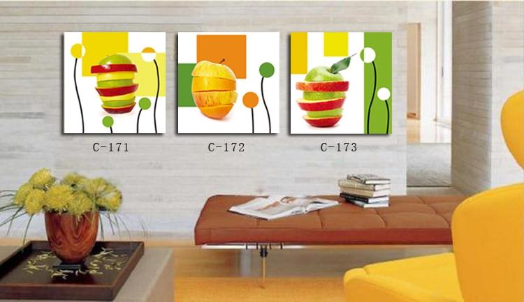 Moderna de la lona wall art pintura de fruta im genes para for Cuadros modernos para comedor diario