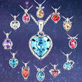 2015 Fashion Twelve Constellations Gemini Necklace 12 Zodiac Signs Pendant Genuine Crystal for Woman Man