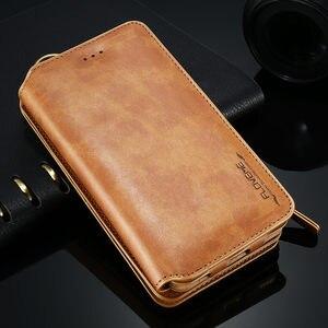 Image 2 - FLOVEME עור ארנק מקרה עבור iPhone 12/12 פרו מקס/12 מיני 11/11 פרו XR X XS מקסימום 8 7 6 6S בתוספת 5S מקרה רטרו מגן כיסוי
