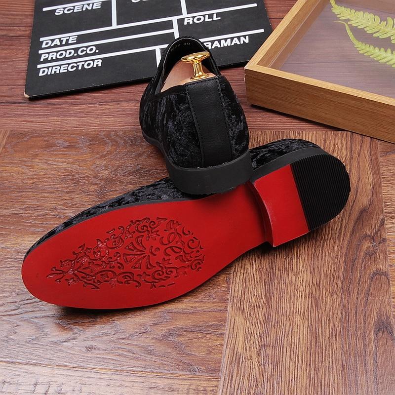 De Casuais Homens Gommino Zapatillas Parte Preto Mocassins Inferior Couro 01 Vermelha On Camurça Condução Sapatos Slip 2018 Hombre qwpntd5w