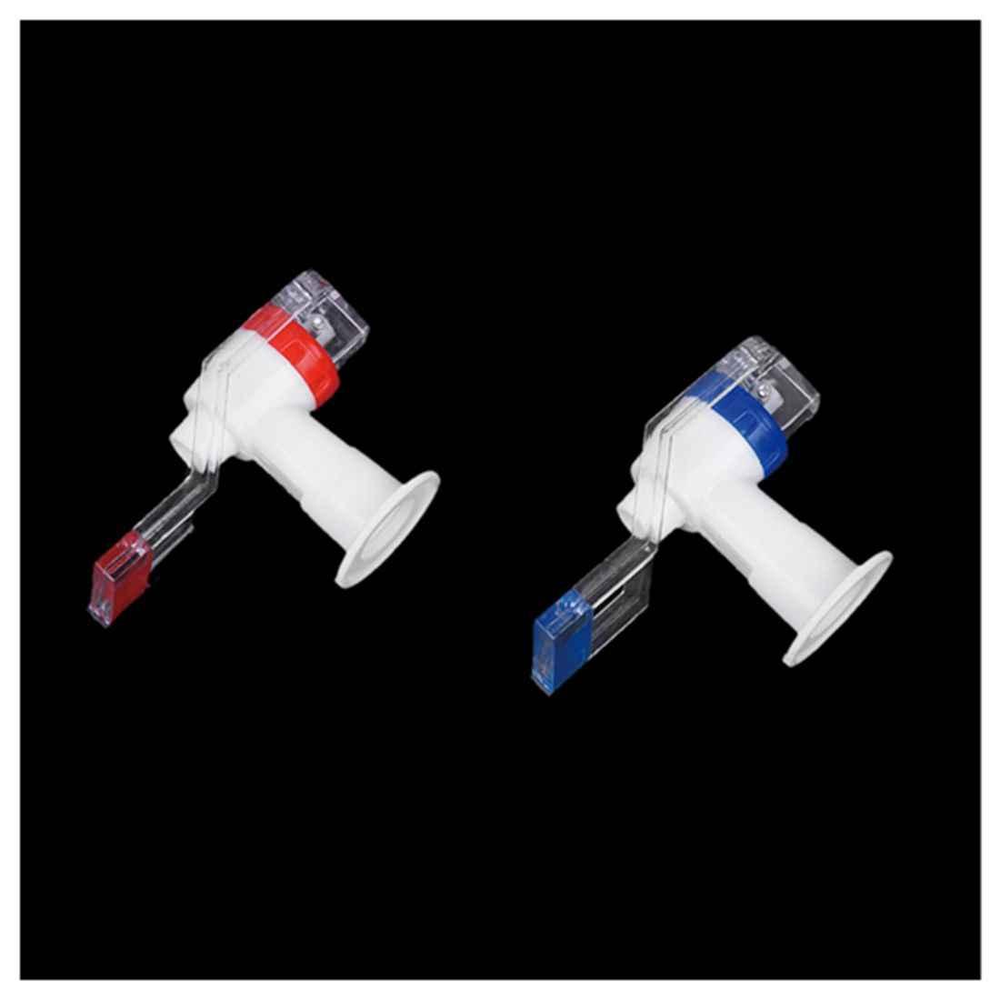 ホット! 新しい交換プッシュタップウォーターディスペンサープラスチックディスペンサー白、赤、青 (2 個)