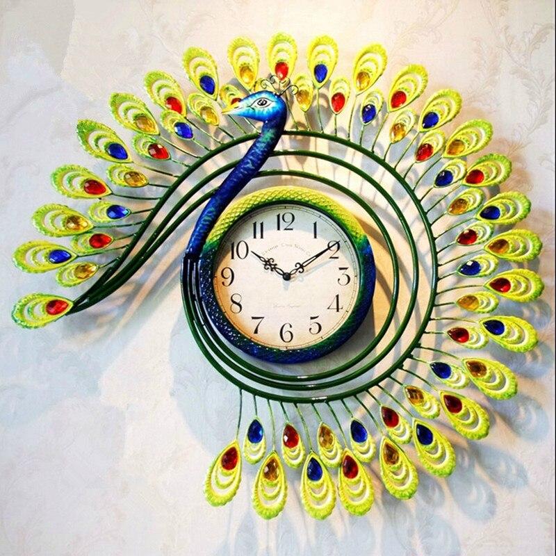 Popular Peacock Wall Clock Buy Cheap Peacock Wall Clock