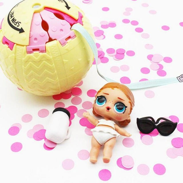 2018 confetti pop 10cm big lol doll in balls 3 series Egg toys for girls party action figure water spray color changing Dress Up
