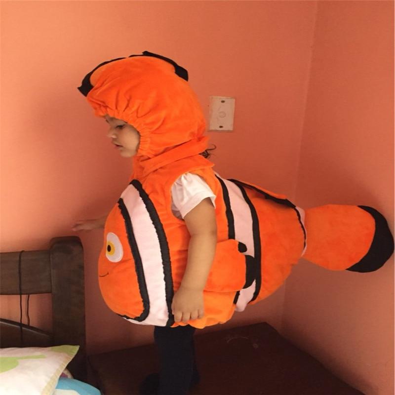 Classic Movie Anime Clown Fish Moni Cute Child Cosplay Costume Halloween Christmas Baby Combination Play