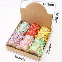 12 Rolls/Box Natural Jute Braided Ropes with Green Leaves for Wedding Decoration MU