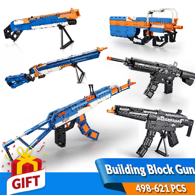 Gun Toy Rifle Machine Gun 1SWAT Military Kids Elite Building blok brick set Gift