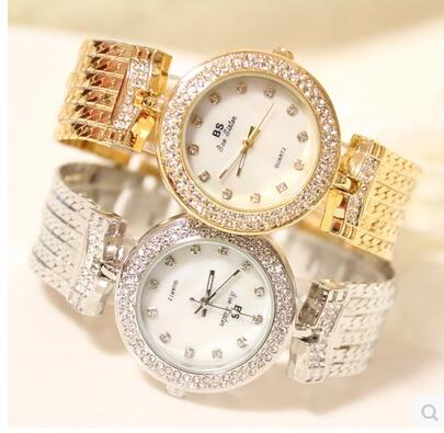 010787Luster Women Watches Quartz Geneva Rhinestone Luxury Roman Lady Relogio Times Simple Superior Quality Casual s