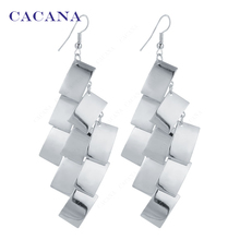 CACANA  Dangle Long Earrings For Women Rectangle Sequin Top Quality Bijouterie Hot Sale No.A698 A699