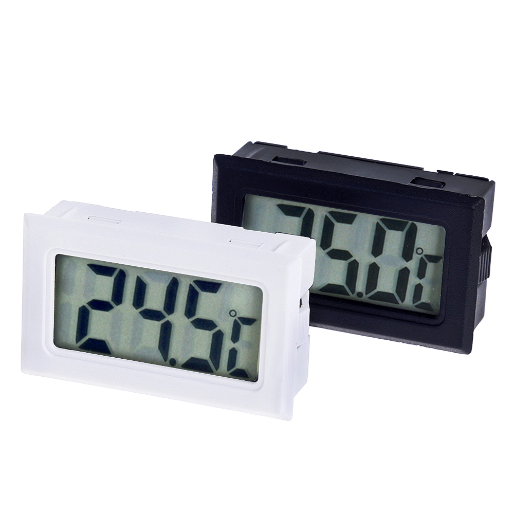 Mini Digital LCD Thermometer Sensor Convenient Hygrometer Gauge Refrigerator Aquarium Monitoring Display Humidity Detector Mini Digital LCD Thermometer Sensor Convenient Hygrometer Gauge Refrigerator Aquarium Monitoring Display Humidity Detector