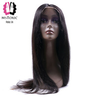 Mstoxic מראש קטף פאות שיער אנושי תחרה מול צפיפות 130% פרואני ישר שיער טבעי פאת תחרה שיער רמי