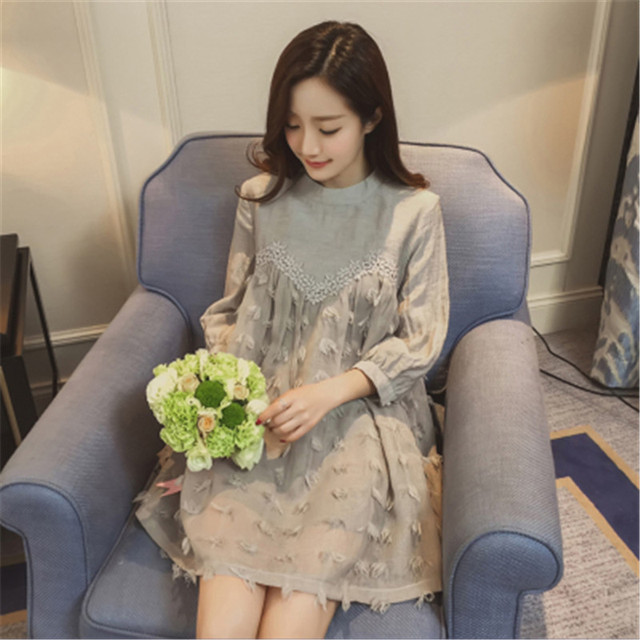 931406910f1 Maternity Clothes Summer New Korean Pregnancy Dress Doll Cotton Lace  Stitching Dresses for Pregnant Women Vestidos