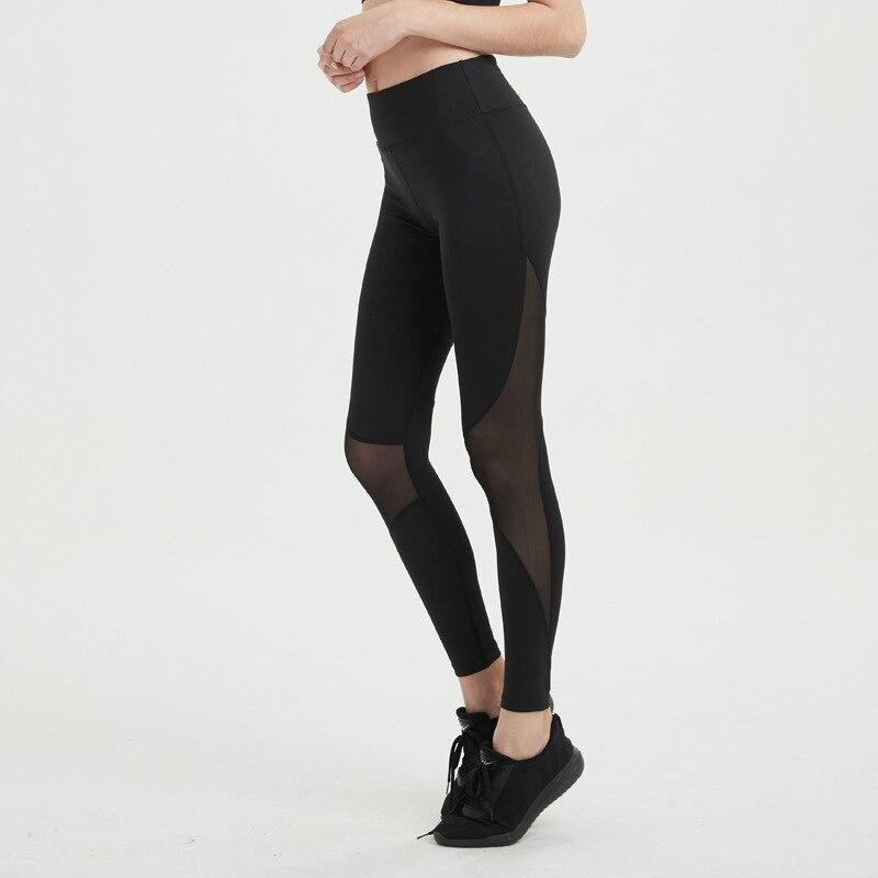 Femmes Yoga Fitness Sport Capris Leggings pantalon taille haute collants course Gym maille Sport entraînement Legging Stretch pantalon d'entraînement