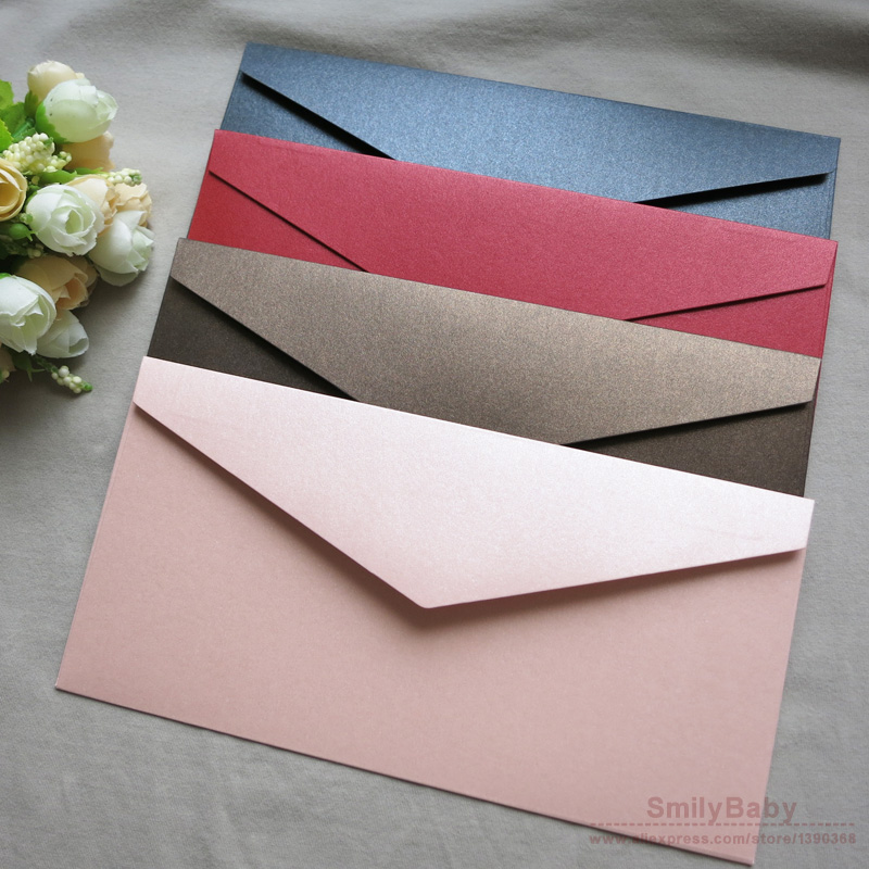 25pcs 22*11cm Thicken Color Business Envelope Membership Party ...