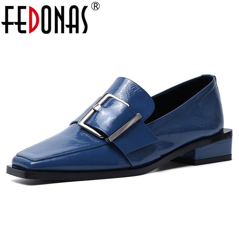 Zapatos de otoño FEDONAS, nuevos zapatos de charol Wonen, zapatos básico de moda, zapatos de tacón con punta cuadrada de Metal para mujer, zapatos de fiesta para mujer ¡Novedad de 2019! relojes SUNKTA para mujer, relojes de lujo impermeables para mujer, relojes de vestir de acero inoxidable a la moda para mujer, reloj femenino