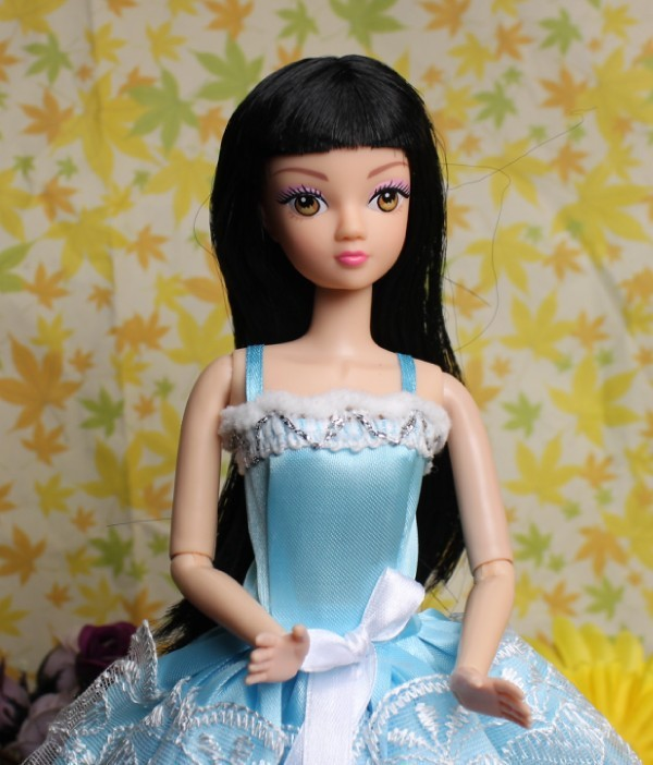 O for U No.1 DIY Heads Dolls Head with Long Black Hair Doll Face Film Necessary For Dolls DIY Toy Wholesale