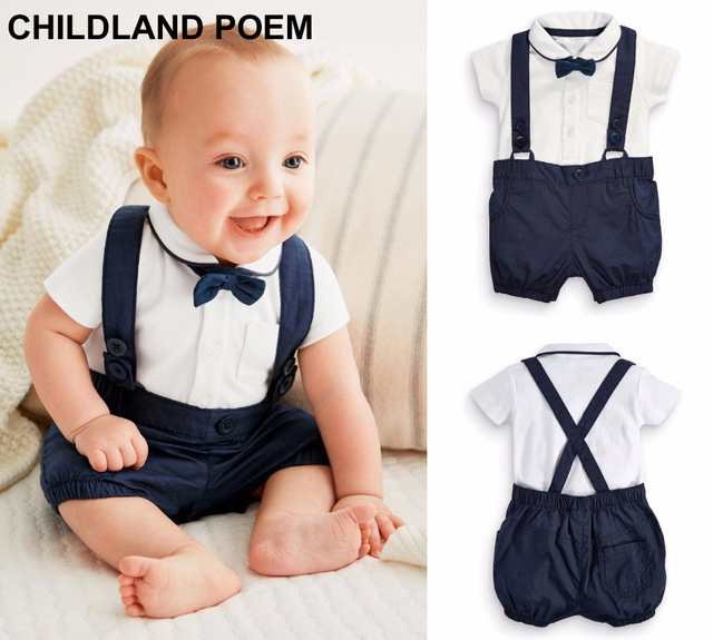 ce79ceddabc39 Summer baby boys clothing set 1 year birthday clothes infant gentleman baby  boy party suit wedding